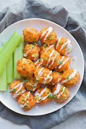 30 Minute Buffalo Chicken Meatballs