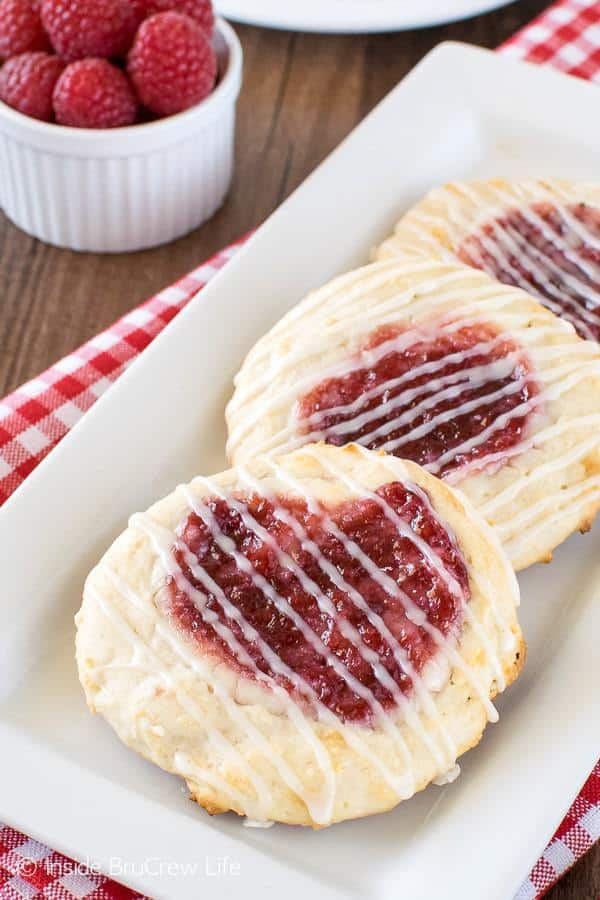 9Your morning routine could use an easy Raspberry Cheesecake Danish. These sweet little treats are great for breakfast or after school.