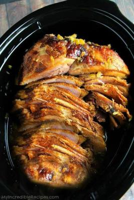 Crock Pot Brown Sugar Pineapple Ham