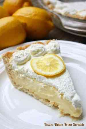Lemon Sour Cream Pie