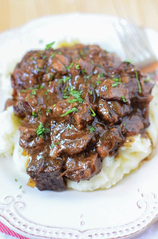 These fall-apart tender sirloin beef tips smothered in a mouthwatering mushroom Gravy, will have everyone begging for second