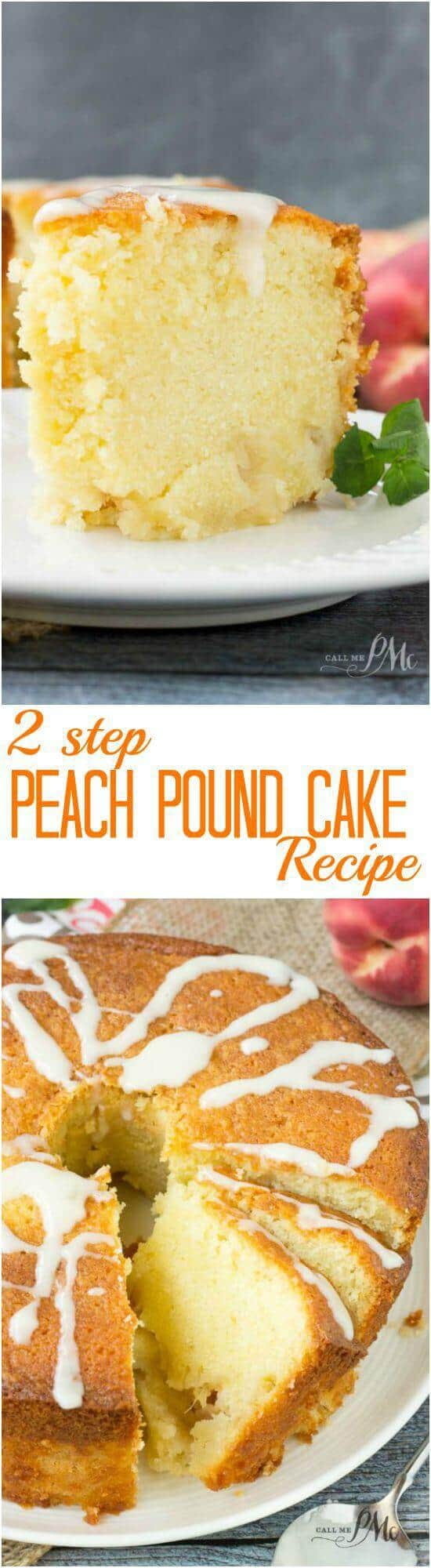 Two Step Fresh Peach Pound Cake