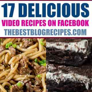 17 DELICIOUS Video Recipes on Facebook
