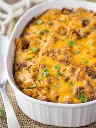 Cheesy BBQ Beef Casserole Recipe