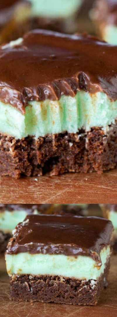 Grasshopper Brownies