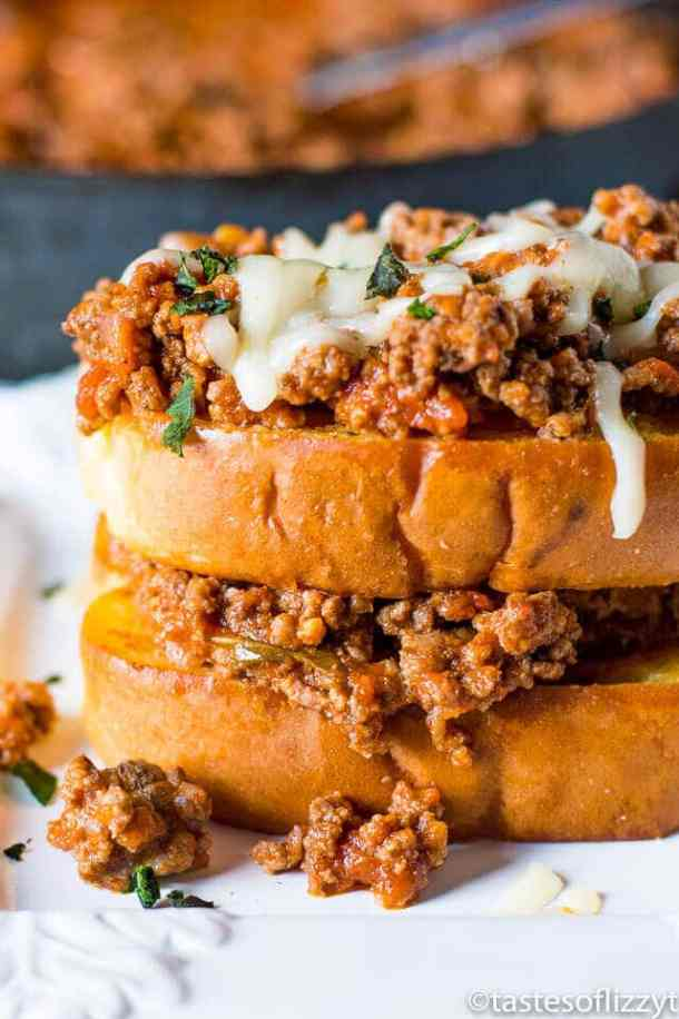 Italian Sloppy Joe Sandwiches -- part of Budget Friendly Lazy Day Sloppy Joe's