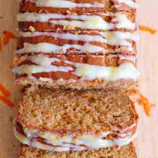 Whole Wheat Carrot Cake Bread with Cream Cheese Frosting