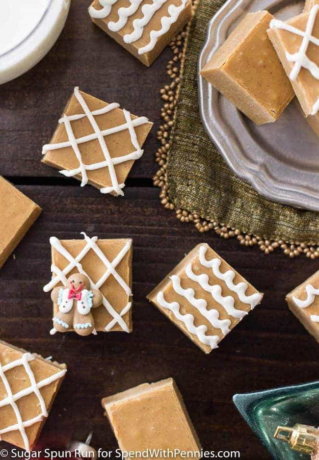 A seasonally spiced gingerbread fudge that takes just minutes to make and doubles as a festive, edible Christmas gift.