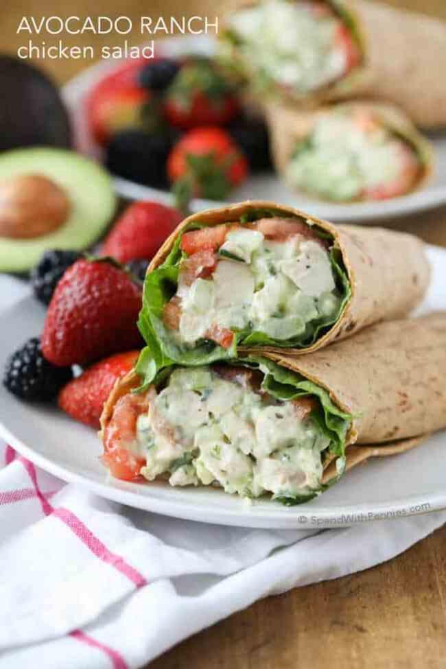Avocado Ranch Chicken Salad Recipe
