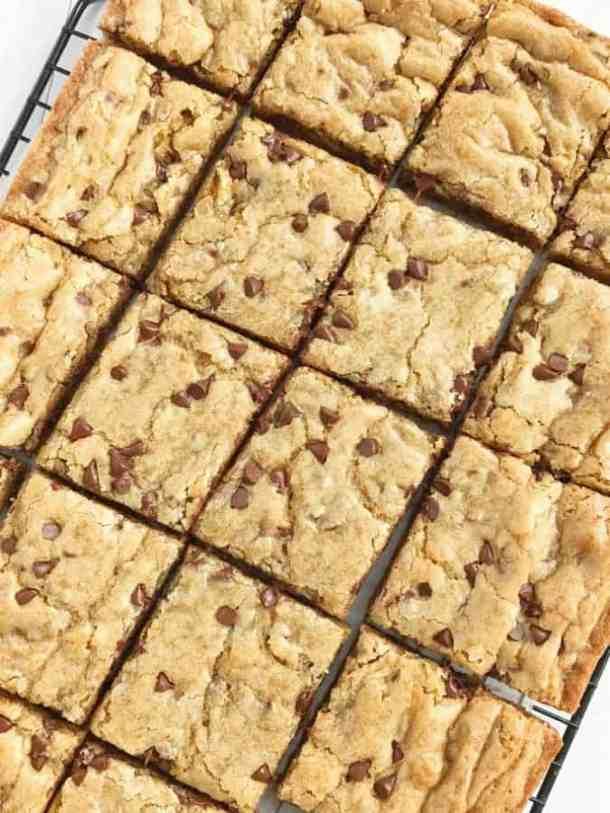 Chocolate Chip Cookie Blondie Bars--Part of The Best Dessert Bars