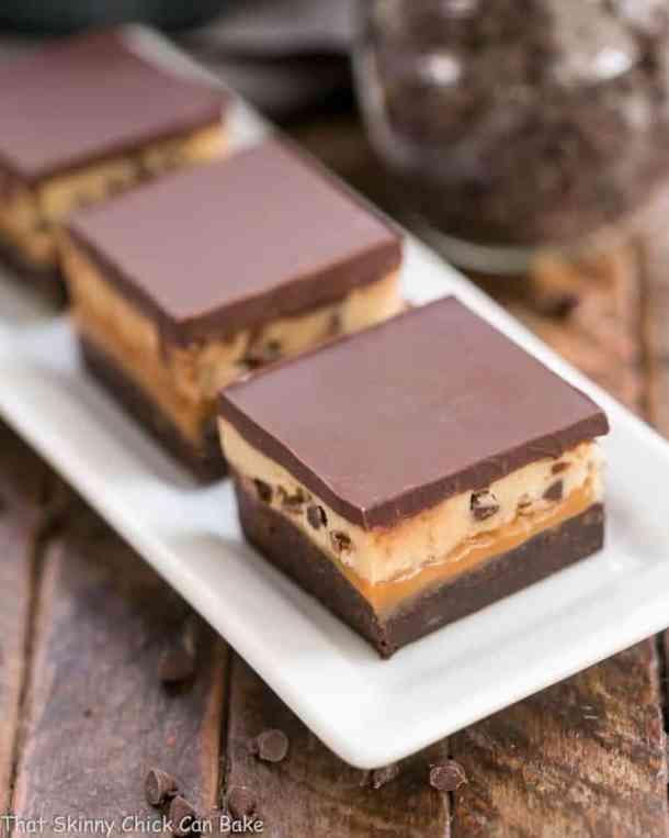 Cookie Dough Billionaire Bars--Part of The Best Dessert Bars
