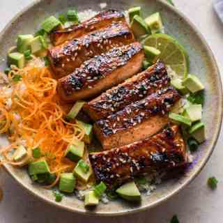 Glazed Hoisin and Sesame Salmon Bowl