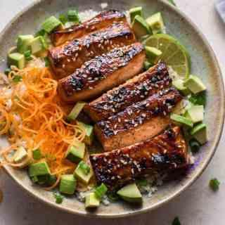 Glazed Hoisin and Sesame Salmon Bowl