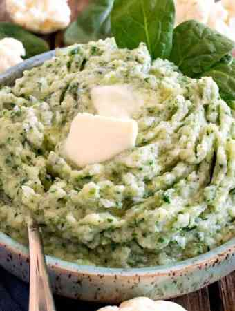 Mashed Cauliflower and Spinach