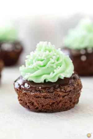 Shamrock Minty Brownie Bites