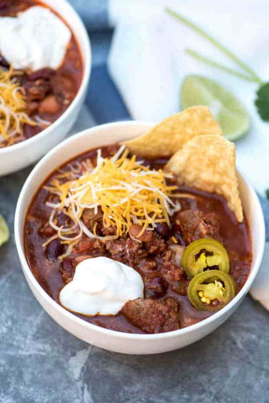 Slow Cooker Double Beef and Bean Chili