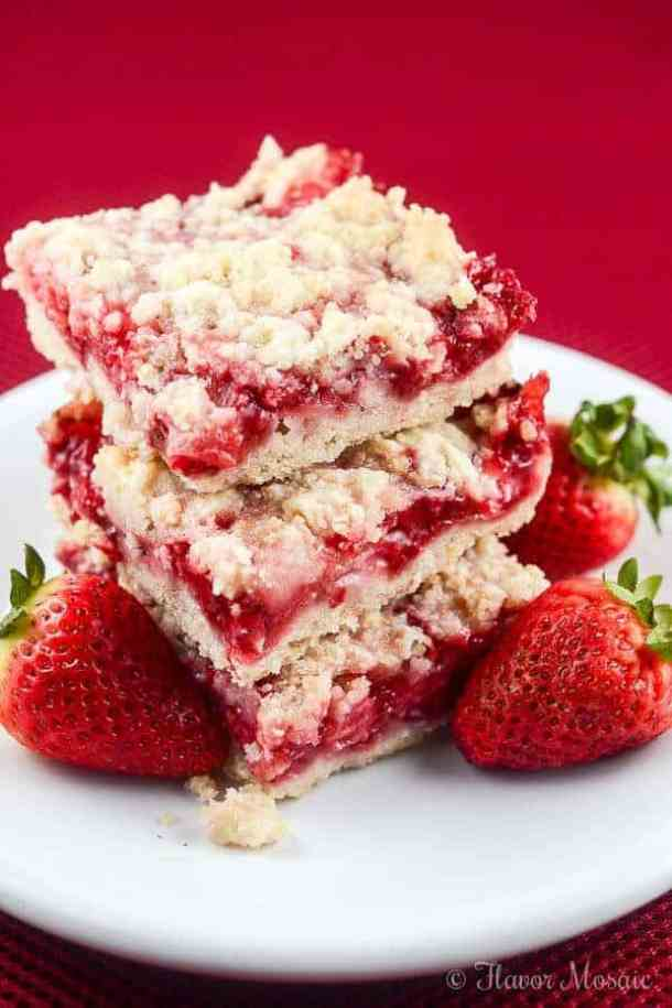 Strawberry Crumb Bars--Part of The Best Dessert Bars