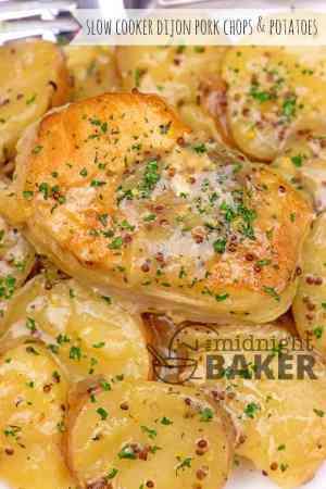 slow cooker dijon pork chops potatoes