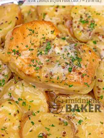 Slow Cooker Dijon Pork Chops and Potatoes