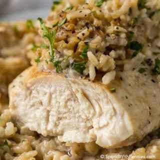 4 Ingredient Chicken Rice Casserole