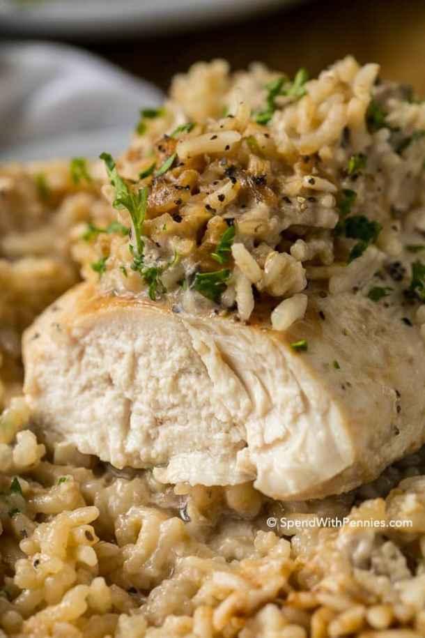 4 Ingredient Chickien Rice Casserole