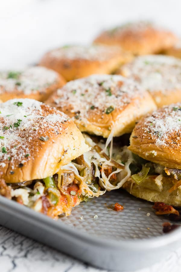 Baked Supreme Pizza Sliders Recipe