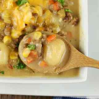 Cheeseburger Gnocchi Soup