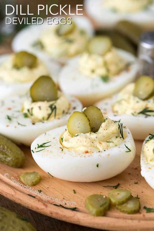 Dill Pickle Deviled Eggs Recipe