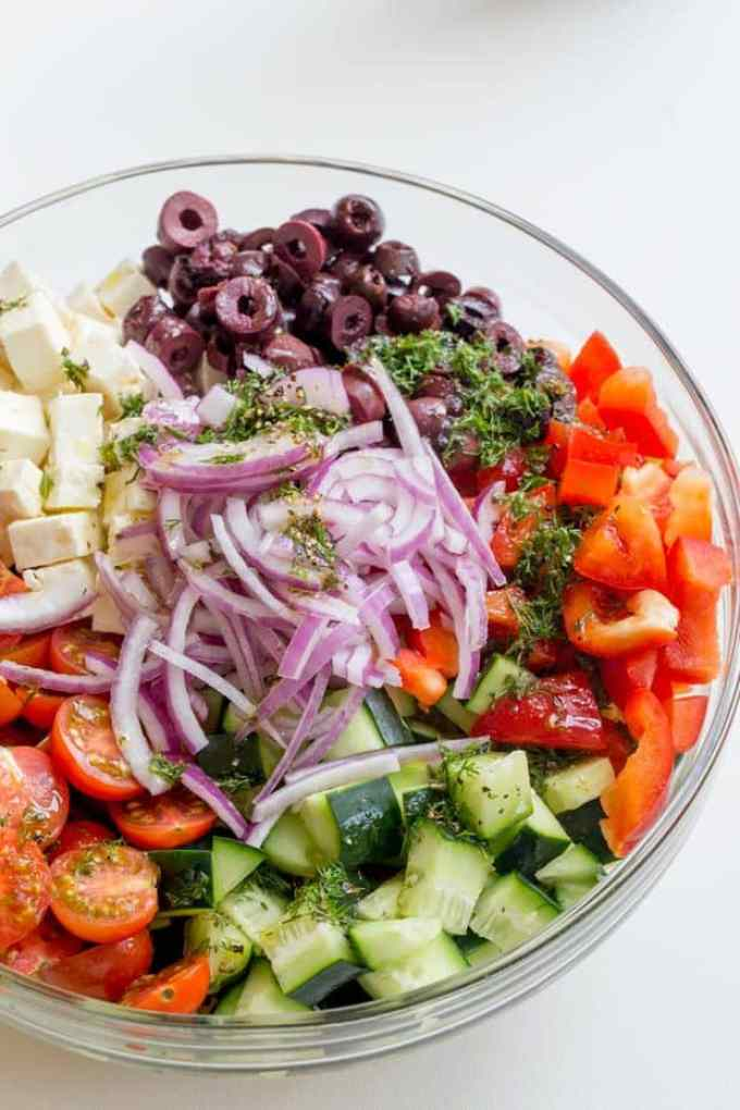 Easy Greek Pasta Salad Recipe