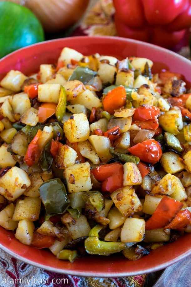Potatoes OBrien Recipe -- part of Loaded Potato Recipes that make the PERFECT Dinner Side Dish