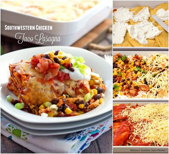 Southwestern Chicken taco Lasagna Recipe