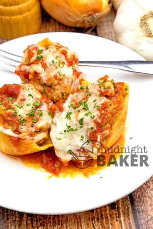 meat and cheese stuffed shells