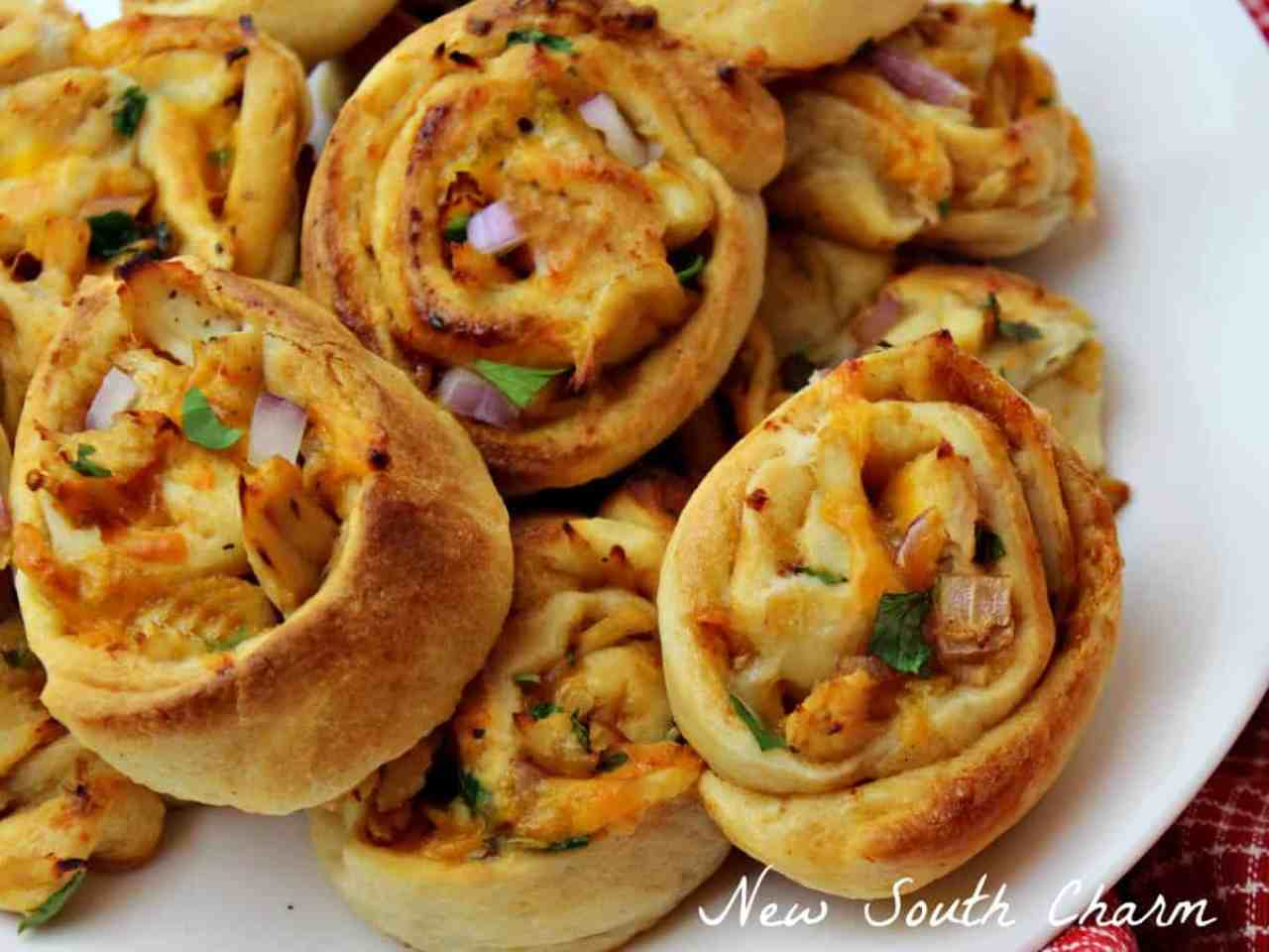BBQ Chicken Pinwheels Recipe