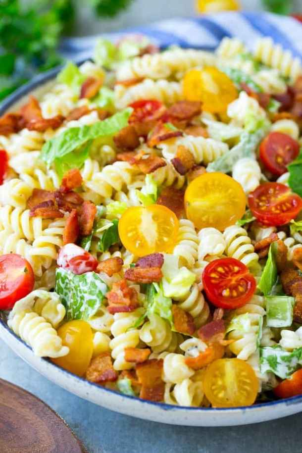 BLT Pasta Salad -- part of The Best Picnic and Potluck Recipes