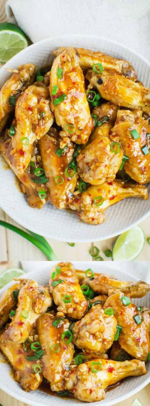 Baked Asian Chicken Wings longpin