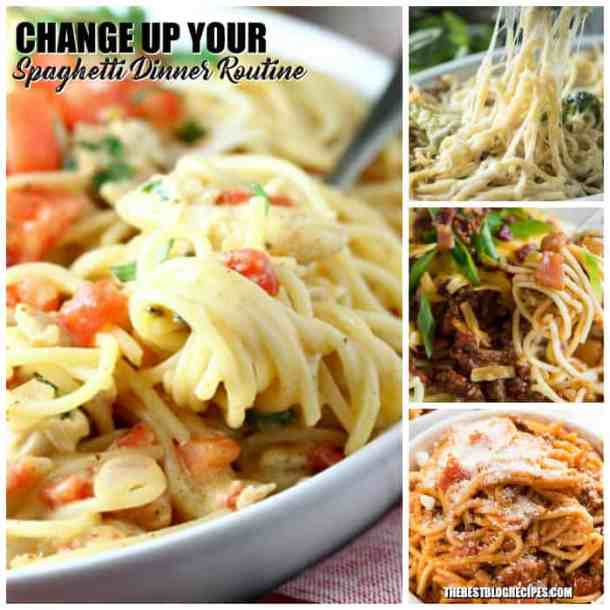 Delicious ways to CHANGE up your Spaghetti Dinner Routine