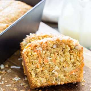 Easy Carrot Coconut Glazed Bread