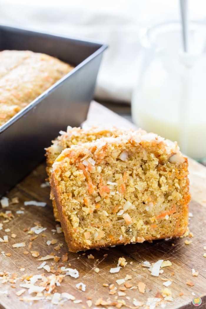 Easy Carrot Coconut Glazed Bread