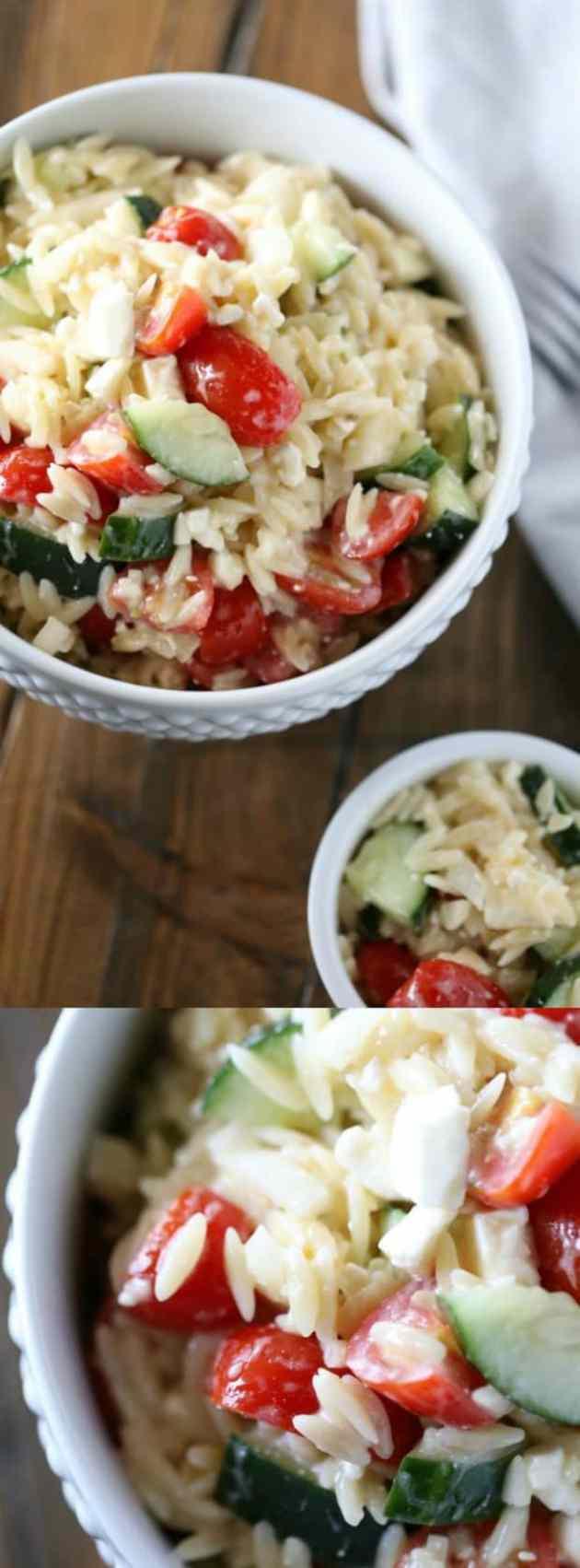 Italian Orzo Pasta Salad Longpin
