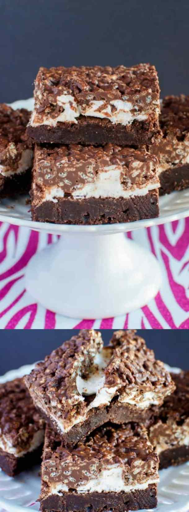 Marshmallow Fudge Crunch Brownies