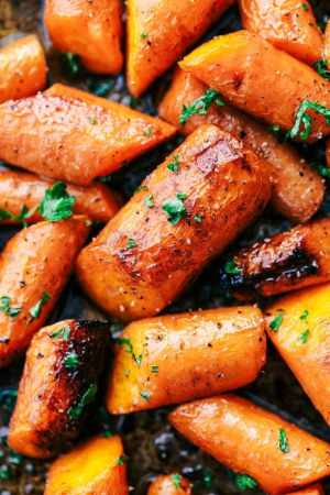 Roasted Brown Butter Honey Garlic Carrots Recipe