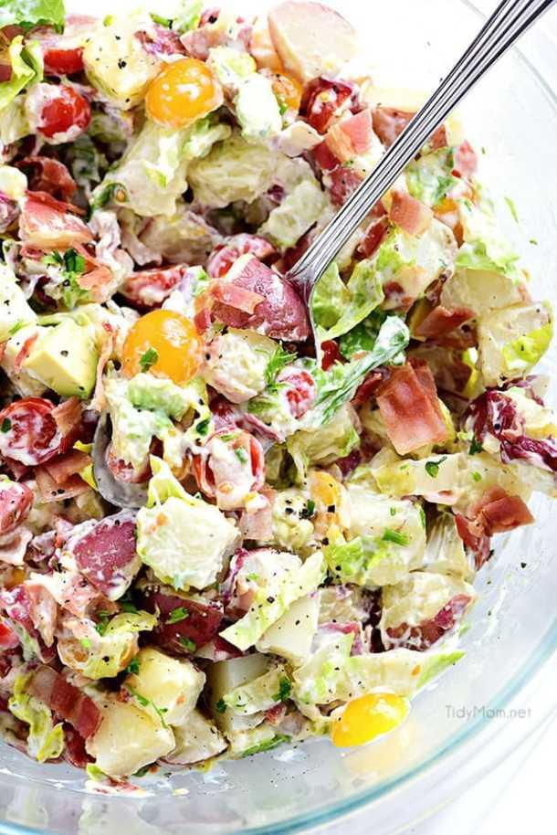 BLT Red Potato Salad with Avocado