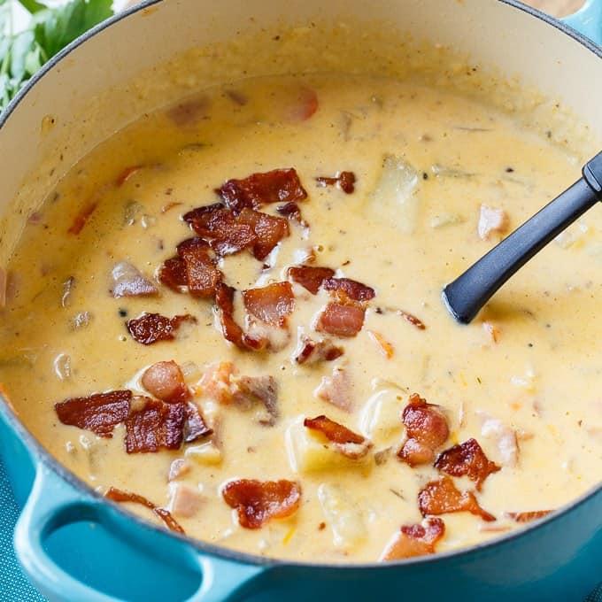 cheesy ham and potato recipe
