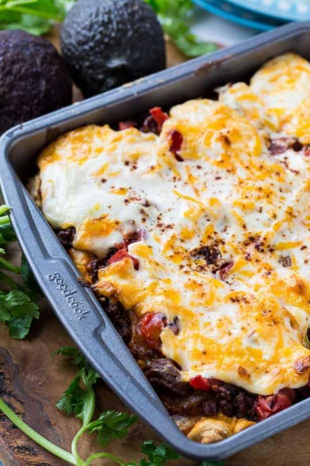 deep dish taco squares recipe