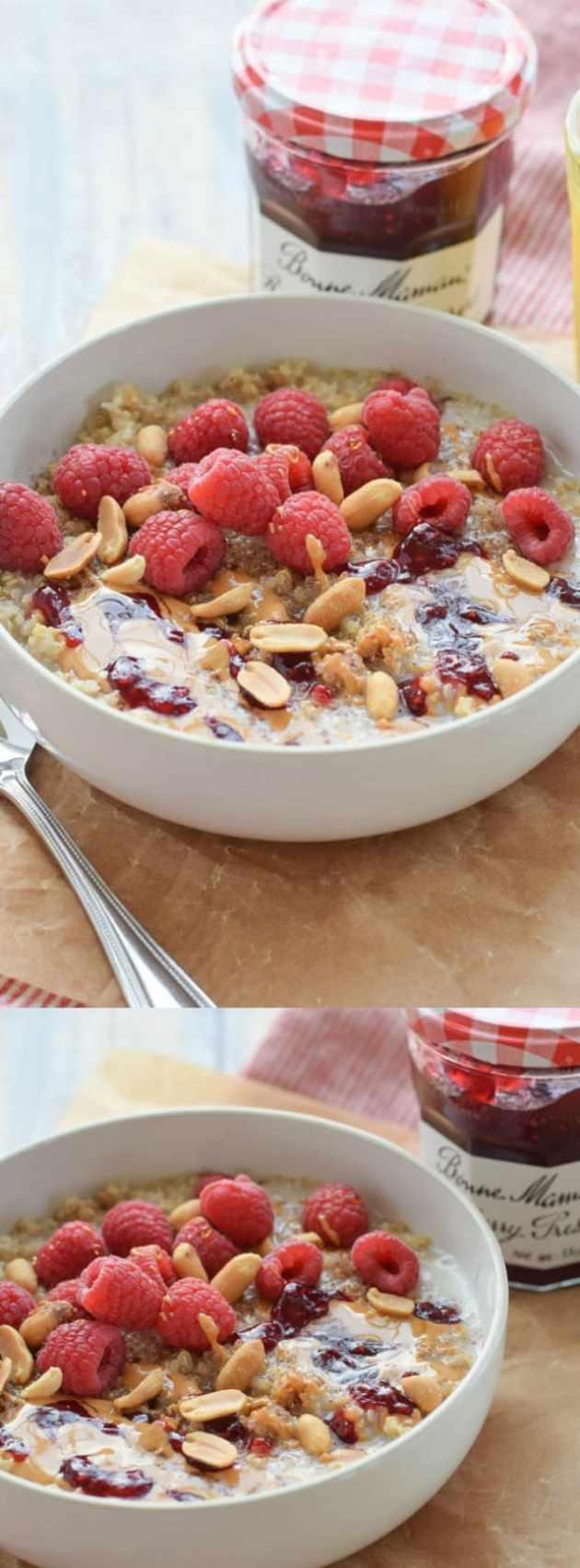 peanut butter and preserves breakfast quinoa longpin