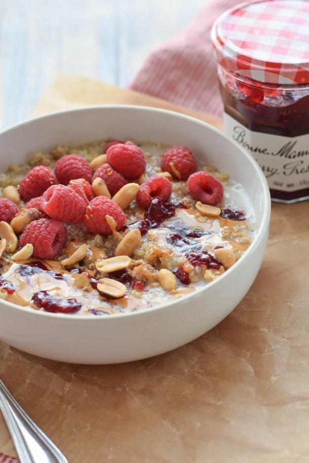peanut butter and preserves breakfast quinoa recipe