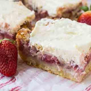Strawberry Custard Bars