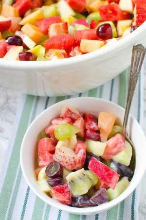 strawberry kiwi melon fruit salad recipe
