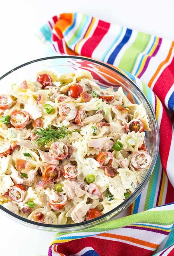 tuna and bacon pasta salad
