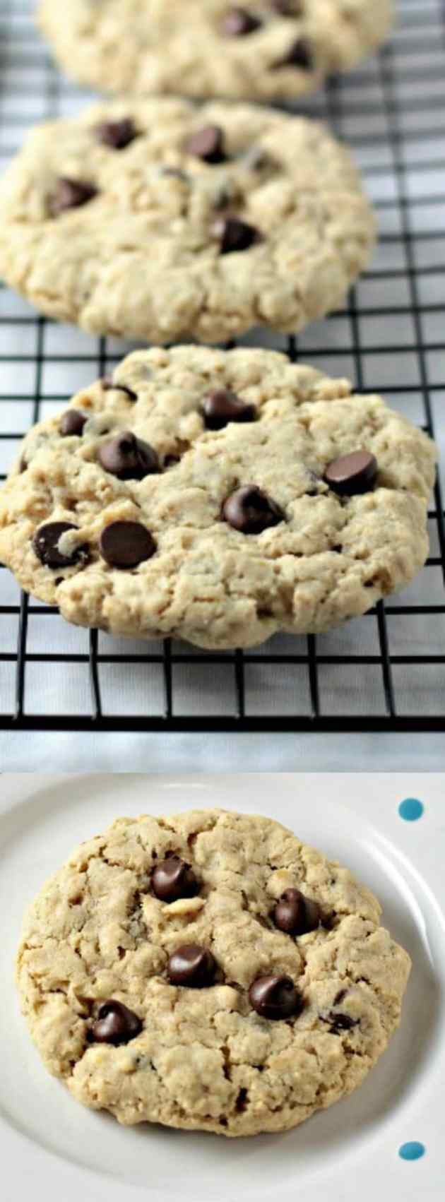 BIG Oatmeal Chocolate Chip Cookies longpin